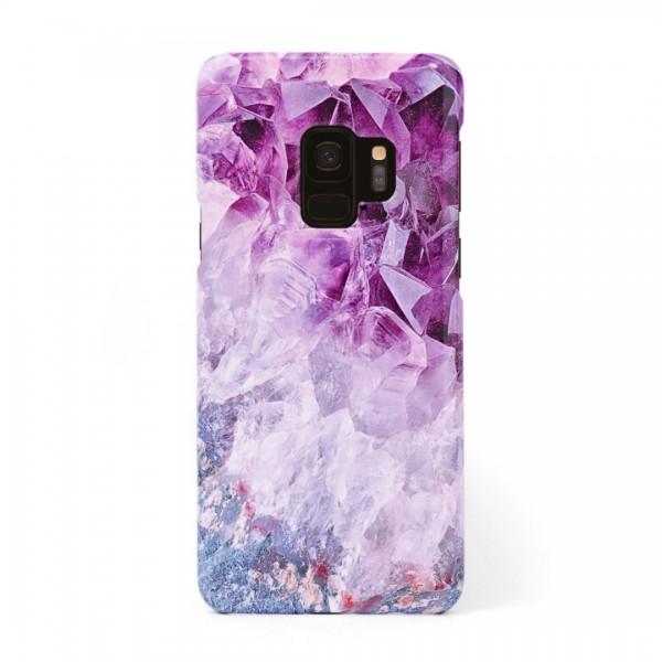 3D твърд кейс/калъф в дизайн Amethyst Diamonds за Samsung Galaxy S9, 3D гел покритие, Case