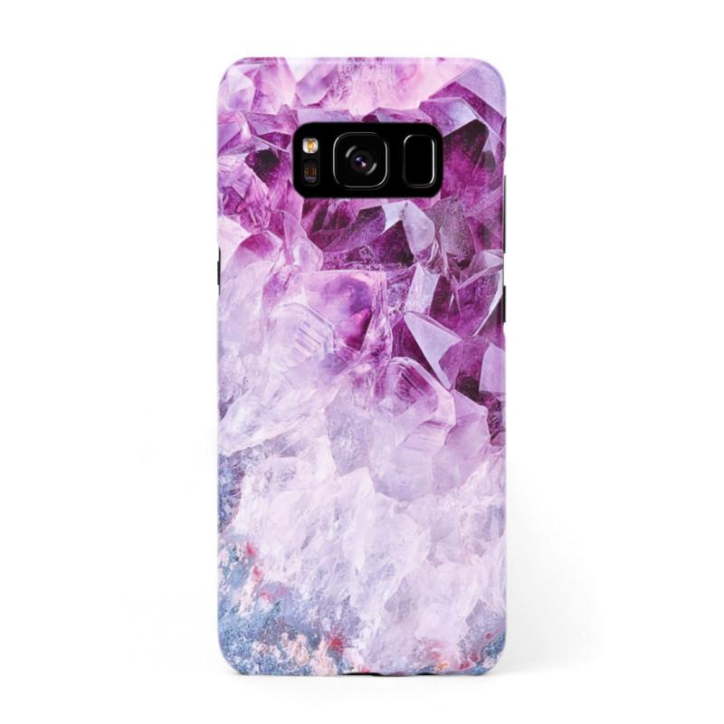 3D твърд кейс/калъф в дизайн Amethyst Diamonds за Samsung Galaxy S8 Plus, 3D гел покритие, Case
