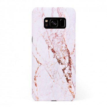 Луксозен кейс/калъф в дизайн White Marble with Gold Threads за Samsung Galaxy S8, Tвърд, Case