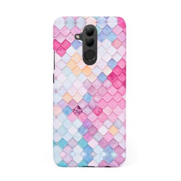 Твърд кейс/калъф в дизайн Colorful Scales за Huawei Mate 20 Lite, Case, Уникален Дизайн