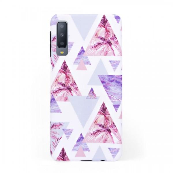 Луксозен кейс/калъф в дизайн Palm Paradise за Samsung Galaxy A7 (2018), Tвърд, Case