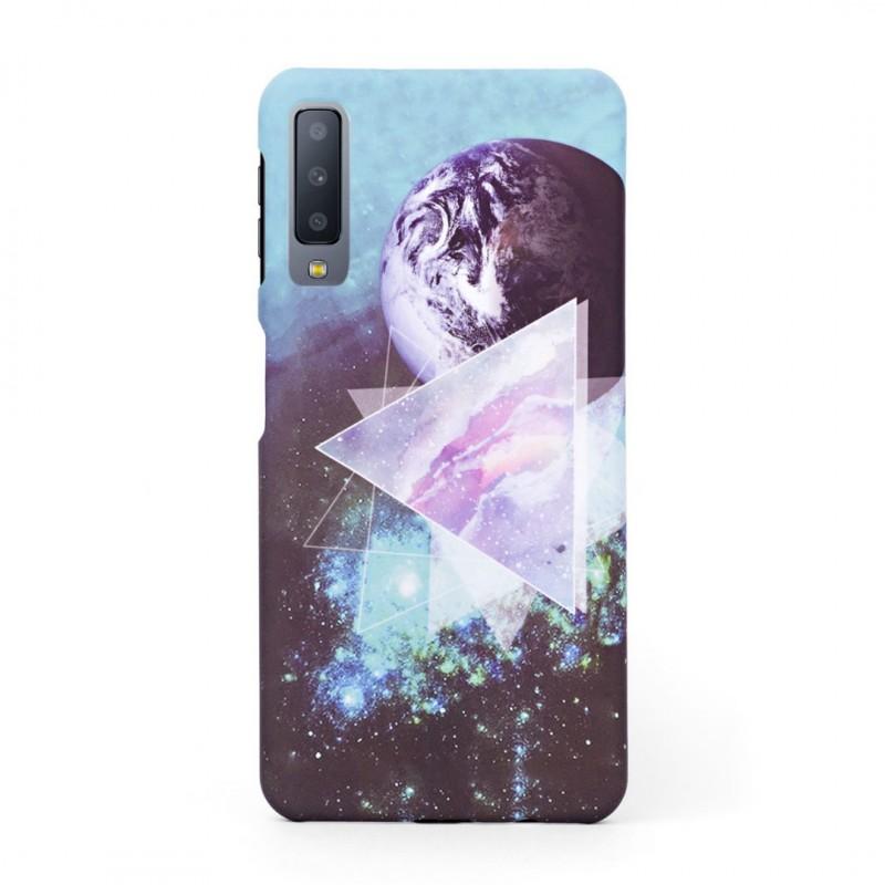 Луксозен твърд кейс/калъф в дизайн Galaxy за Samsung Galaxy A7 (2018), Case