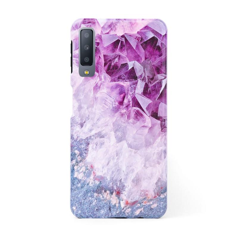 3D твърд кейс/калъф в дизайн Amethyst Diamonds за Samsung Galaxy A7 (2018), 3D гел покритие, Case