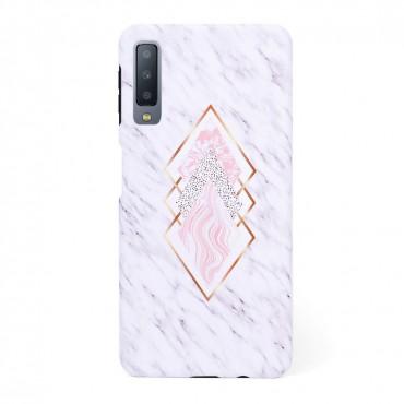 Твърд кейс/калъф в дизайн Golden Rhomboids за Samsung Galaxy A7 (2018), Case, Уникален Дизайн
