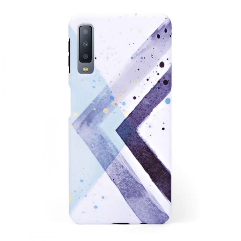 Твърд кейс/калъф в дизайн Colorful Triangles за Samsung Galaxy A7 (2018), Case, Уникален Дизайн
