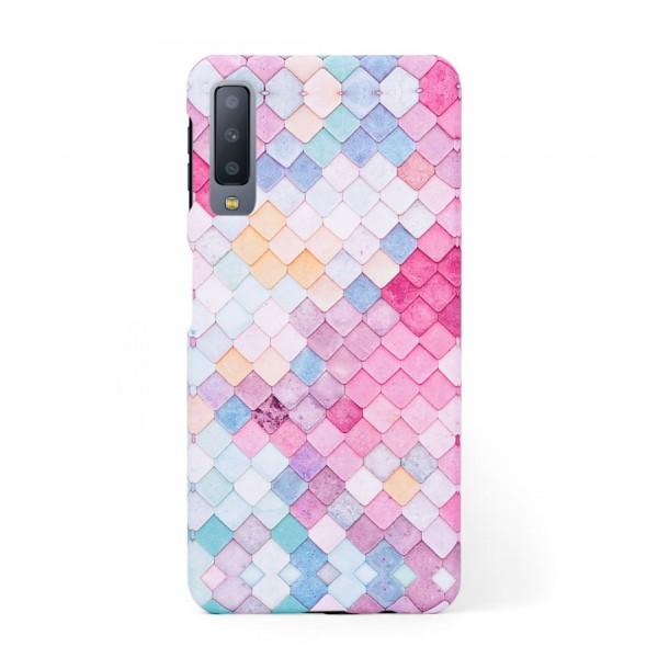 Твърд кейс/калъф в дизайн Colorful Scales за Samsung Galaxy A7 (2018), Case, Уникален Дизайн