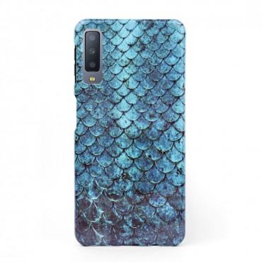 3D твърд кейс/калъф в дизайн Blue Mermaid за Samsung Galaxy A7 (2018), 3D гел покритие, Case