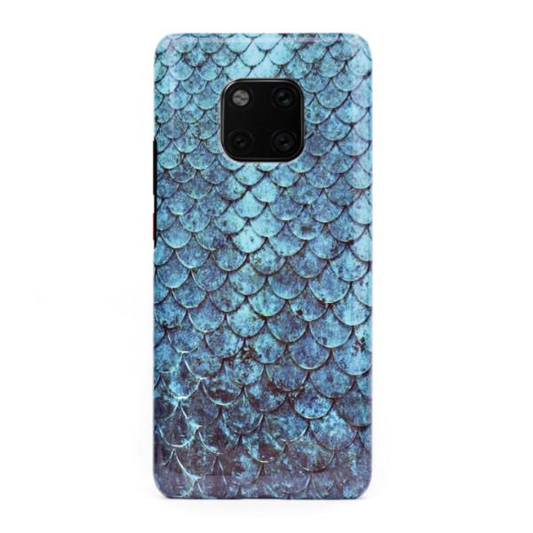 3D твърд кейс/калъф в дизайн Blue Mermaid за Huawei Mate 20 Pro, 3D гел покритие, Case