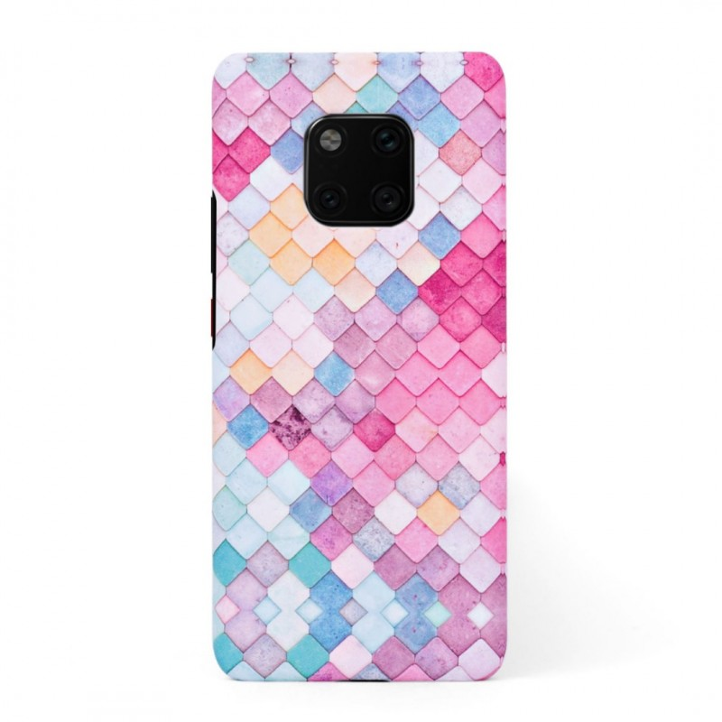 Твърд кейс/калъф в дизайн Colorful Scales за Huawei Mate 20 Pro, Case, Уникален Дизайн