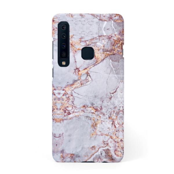 Луксозен кейс/калъф в дизайн Silver Marble with Gold Threads за Samsung Galaxy A9 (2018), Tвърд, Case