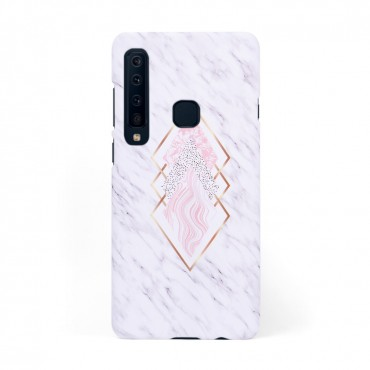 Луксозен кейс/калъф в дизайн White Marble with Gold Threads за Samsung Galaxy A9 (2018), Tвърд, Case
