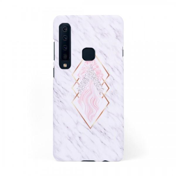 Луксозен кейс/калъф в дизайн White Marble with Gold Threads за Samsung Galaxy A9 (2018), Tвърд, Case