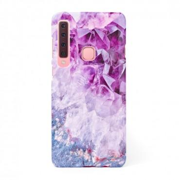 3D твърд кейс/калъф в дизайн Amethyst Diamonds за Samsung Galaxy A9 (2018), 3D гел покритие, Case