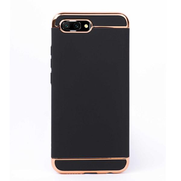 Луксозен кейс/калъф от 3 части за Huawei Honor 10, Case, Твърд, Черен