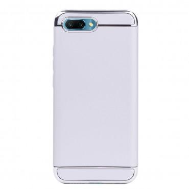 Луксозен кейс/калъф от 3 части за Huawei Honor 10, Case, Твърд, Сребрист