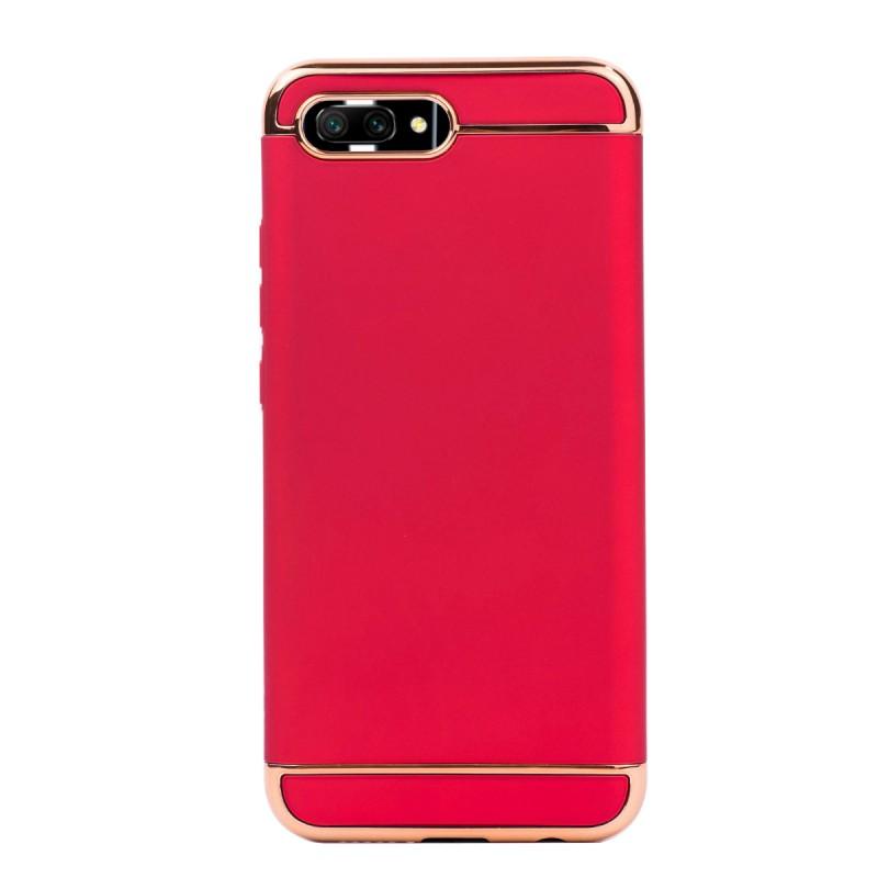 Луксозен кейс/калъф от 3 части за Huawei Honor 10, Case, Твърд, Червен
