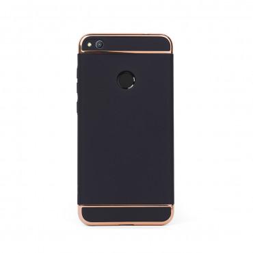 Луксозен кейс/калъф от 3 части за Huawei Honor 8 Lite, Case, Твърд, Черен
