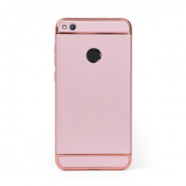 Луксозен кейс/калъф от 3 части за Huawei Honor 8 Lite, Case, Твърд, Розово злато