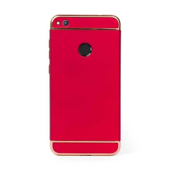 Луксозен кейс/калъф от 3 части за Huawei Honor 8 Lite, Case, Твърд, Червен