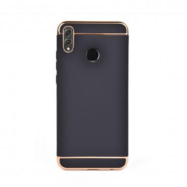Луксозен кейс/калъф от 3 части за Huawei Honor 8X, Case, Твърд, Черен