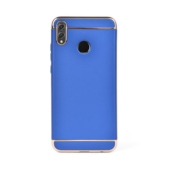 Луксозен кейс/калъф от 3 части за Huawei Honor 8X, Case, Твърд, Син