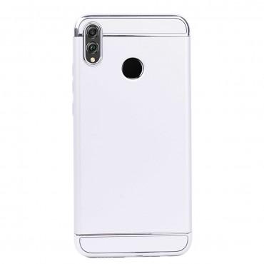Луксозен кейс/калъф от 3 части за Huawei Honor 8X, Case, Твърд, Сребрист