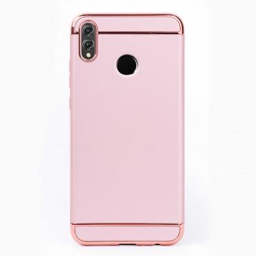 Луксозен кейс/калъф от 3 части за Huawei Honor 8X, Case, Твърд, Розово злато