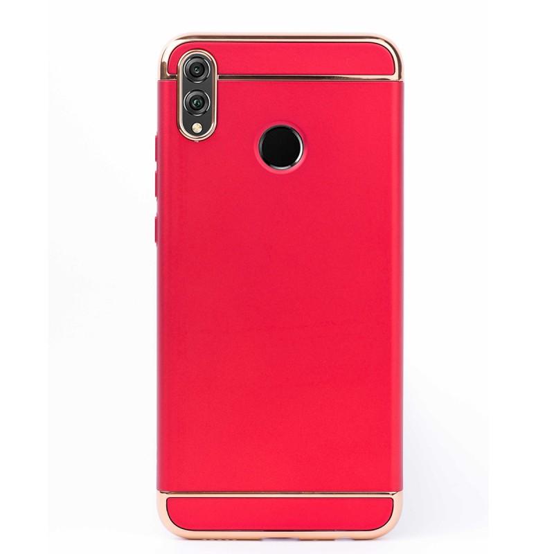 Луксозен кейс/калъф от 3 части за Huawei Honor 8X, Case, Твърд, Червен