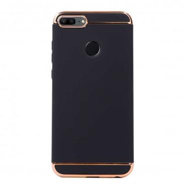 Луксозен кейс/калъф от 3 части за Huawei Honor 9 Lite, Case, Твърд, Черен