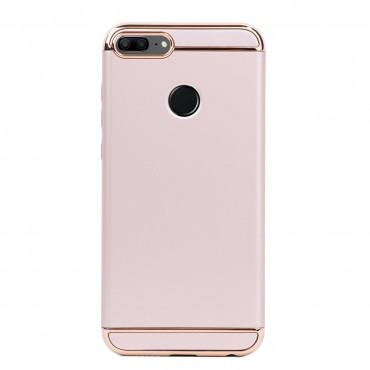 Луксозен кейс/калъф от 3 части за Huawei Honor 9 Lite, Case, Твърд, Златист