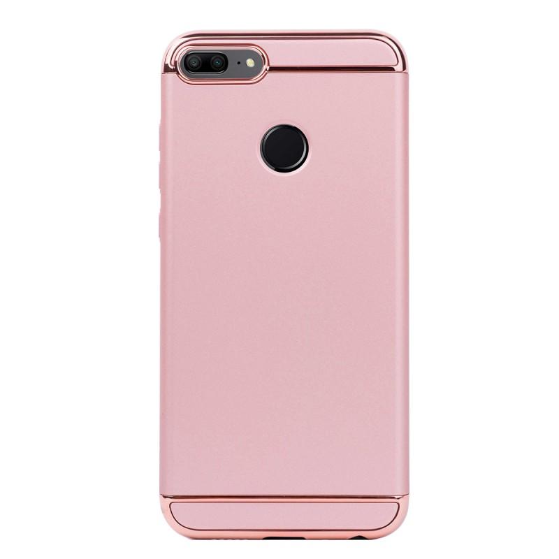 Луксозен кейс/калъф от 3 части за Huawei Honor 9 Lite, Case, Твърд, Розово злато
