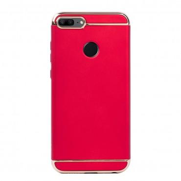 Луксозен кейс/калъф от 3 части за Huawei Honor 9 Lite, Case, Твърд, Червен