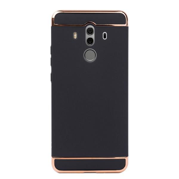 Луксозен кейс/калъф от 3 части за Huawei Mate 10 Pro, Case, Твърд, Черен