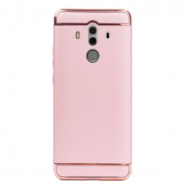 Луксозен кейс/калъф от 3 части за Huawei Mate 10 Pro, Case, Твърд, Розово злато
