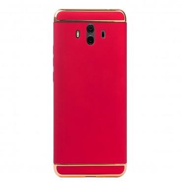 Луксозен кейс/калъф от 3 части за Huawei Mate 10, Case, Твърд, Червен