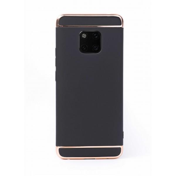 Луксозен кейс/калъф от 3 части за Huawei Mate 20 Pro, Case, Твърд, Черен