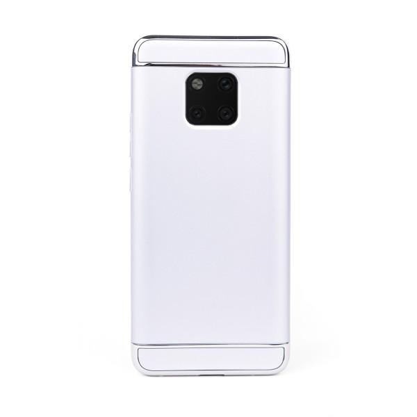 Луксозен кейс/калъф от 3 части за Huawei Mate 20 Pro, Case, Твърд, Сребрист