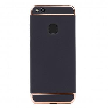 Луксозен кейс/калъф от 3 части за Huawei P10 Lite, Case, Твърд, Черен