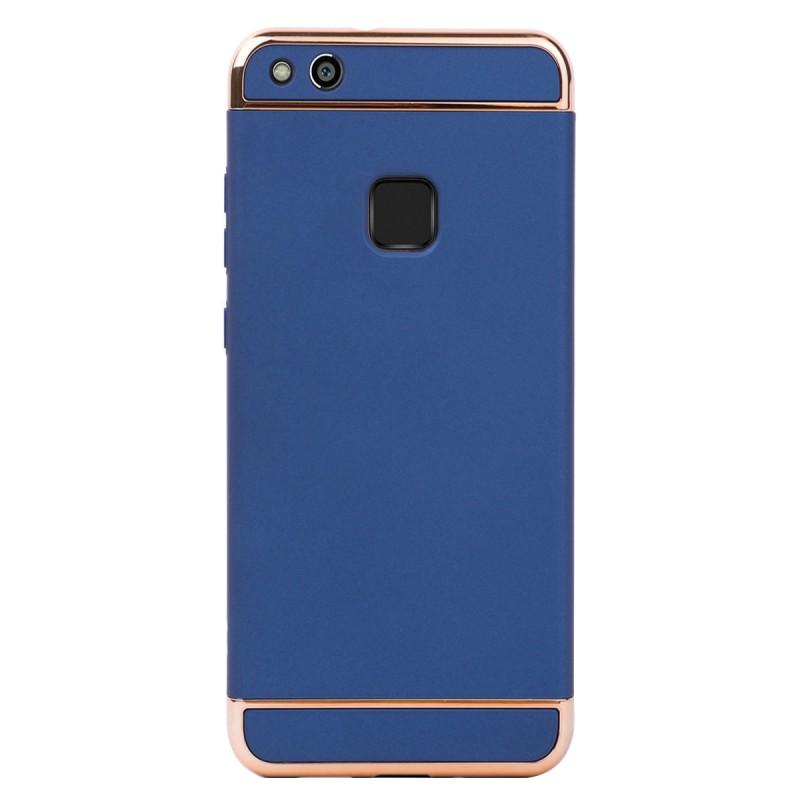 Луксозен кейс/калъф от 3 части за Huawei P10 Lite, Case, Твърд, Син