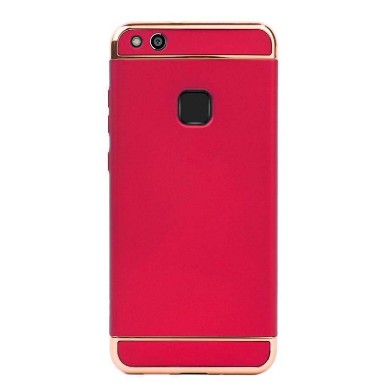 Луксозен кейс/калъф от 3 части за Huawei P10 Lite, Case, Твърд, Червен