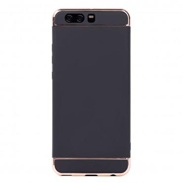 Луксозен кейс/калъф от 3 части за Huawei P10 Plus, Case, Твърд, Черен