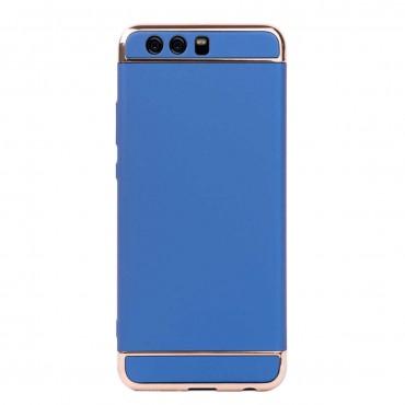 Луксозен кейс/калъф от 3 части за Huawei P10 Plus, Case, Твърд, Син