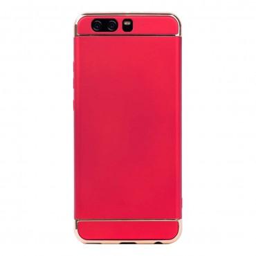 Луксозен кейс/калъф от 3 части за Huawei P10 Plus, Case, Твърд, Червен