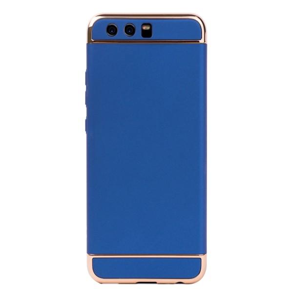 Луксозен кейс/калъф от 3 части за Huawei P10, Case, Твърд, Син