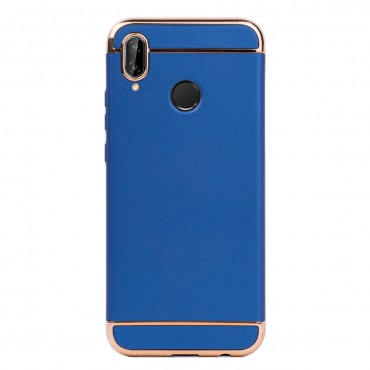 Луксозен кейс/калъф от 3 части за Huawei P20 Lite, Case, Твърд, Син