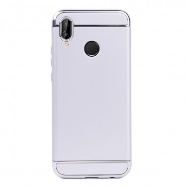 Луксозен кейс/калъф от 3 части за Huawei P20 Lite, Case, Твърд, Сребрист