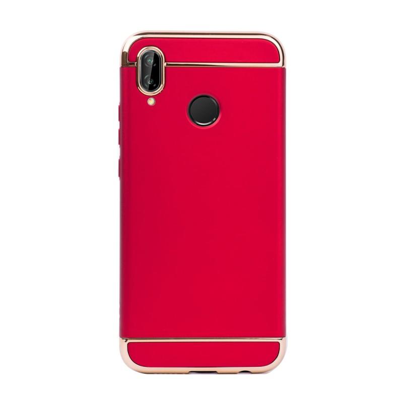 Луксозен кейс/калъф от 3 части за Huawei P20 Lite, Case, Твърд, Червен