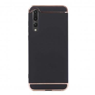 Луксозен кейс/калъф от 3 части за Huawei P20 Pro, Case, Твърд, Черен