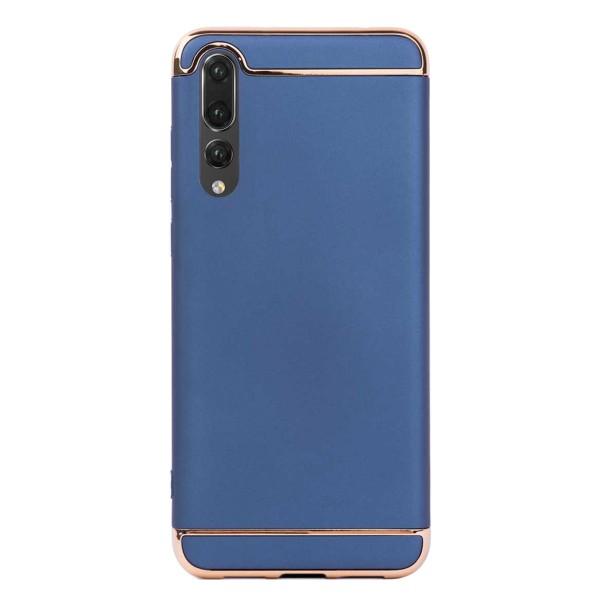 Луксозен кейс/калъф от 3 части за Huawei P20 Pro, Case, Твърд, Син