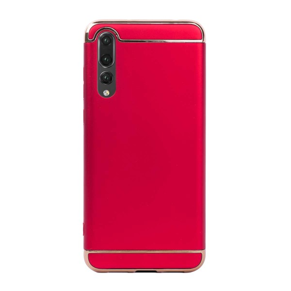 Луксозен кейс/калъф от 3 части за Huawei P20 Pro, Case, Твърд, Червен